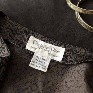 Dior Tops - Dior 100% Silk Abstract Print Blouse